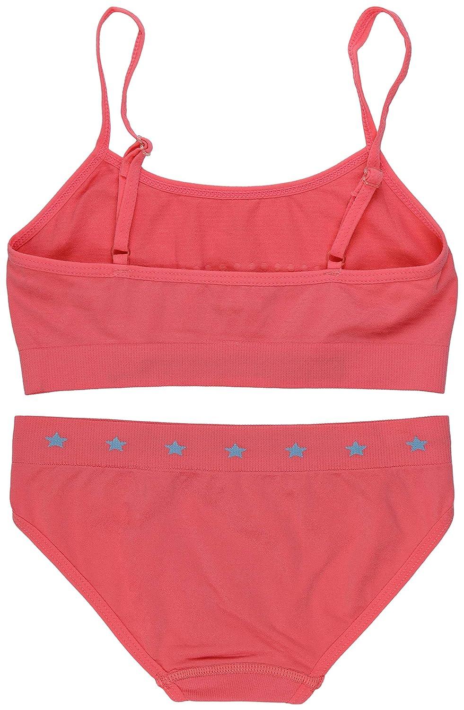 ToBeInStyle Girls Pack of 6 Set of Spaghetti Strap Bras and Boyshorts or Bikinis
