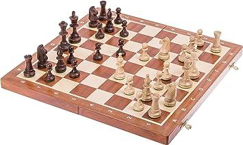 Square - Ajedrez de Madera Nº 5 - Caoba - Tablero de ajedrez + ...