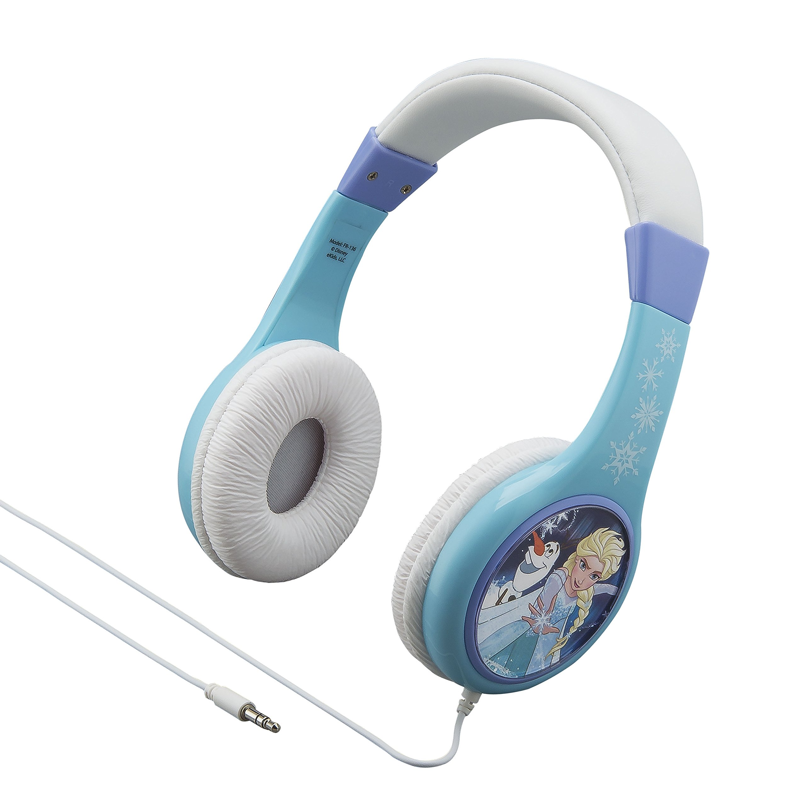 Frozen Kid Friendly Wired Headphones Volume Limited for Safe Listening for Kids
