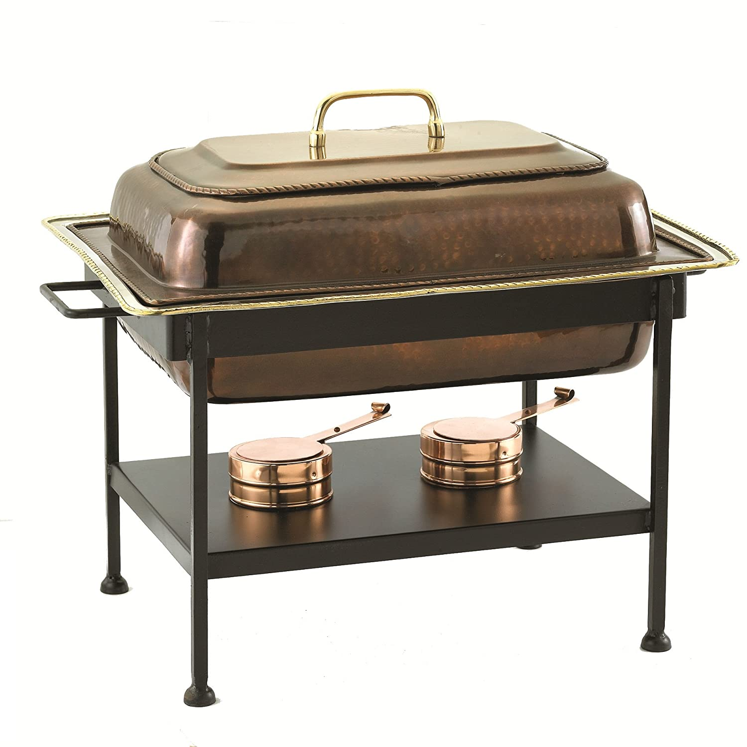 Old Dutch 21-Inch x16-Inch x19-Inch Rect Antique Copper Chafing Dish, 8 Quintal 842