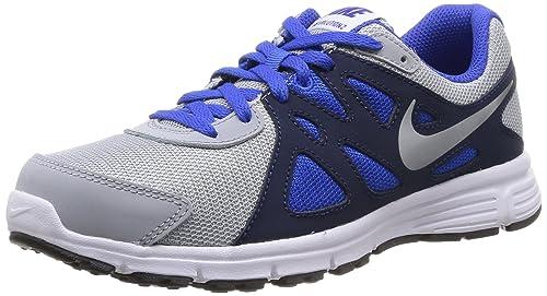 Nike Revolution 2 GS, Grau Jungen Laufschuhe, Grau GS, (Wolf Grau Weiß Lyon ... e8df2a
