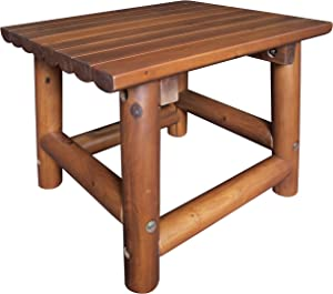 Leigh Country TX 36010 Amberlog End Table Outdoor/Patio Furniture
