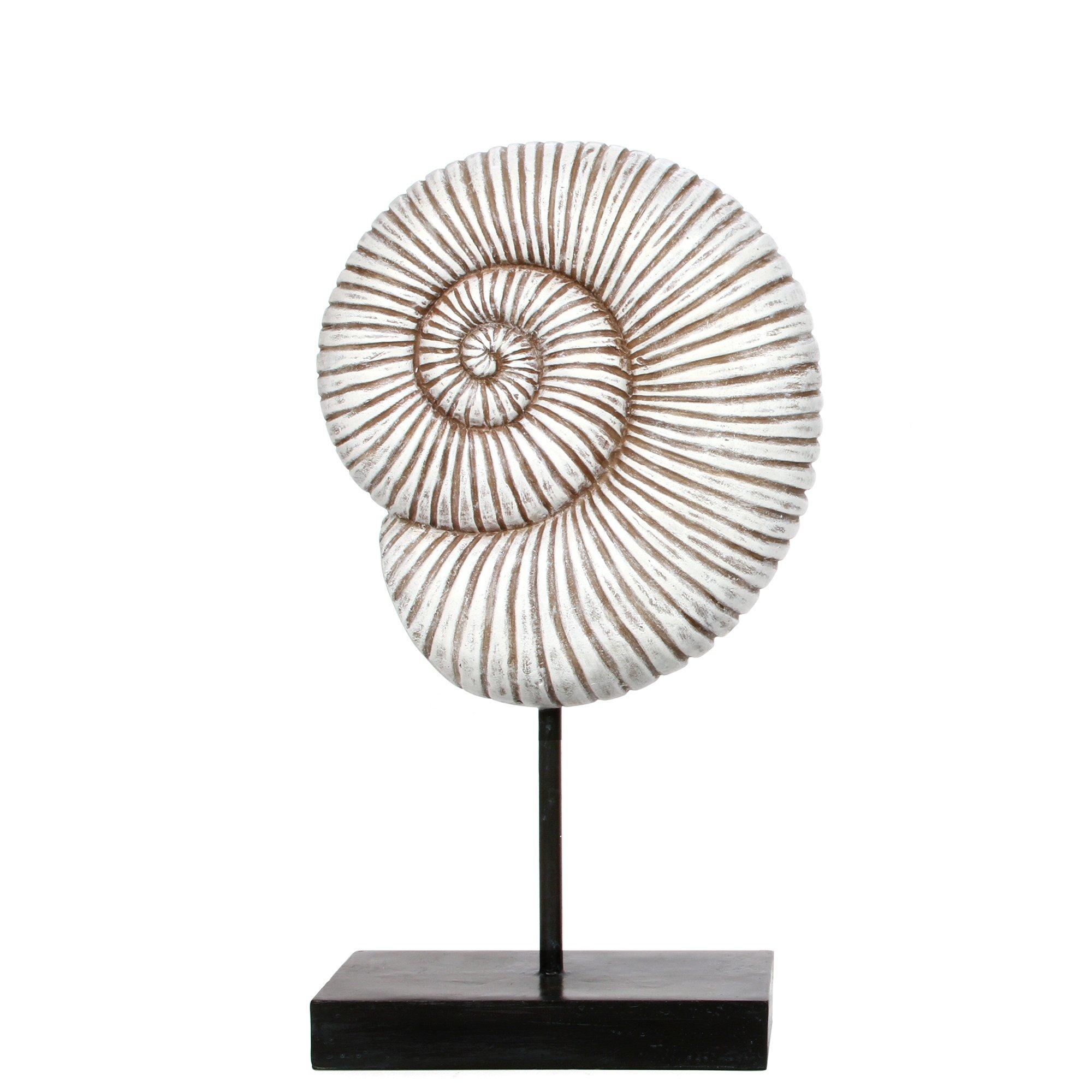 Hosley 12.9'' High, Decorative Tabletop Pedestal Shell. Ideal Gift for Wedding, Home, Party Favor, Spa, Reiki, Meditation, Bathroom Settings P9