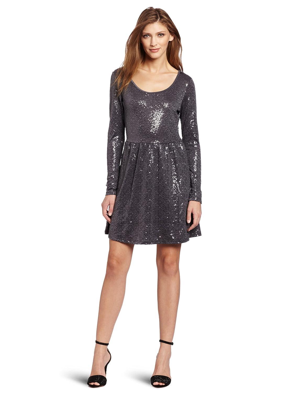 Sequin Jersey Dress