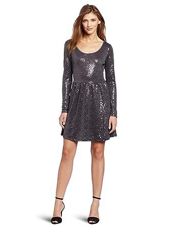 Amazon.com: Kensie Women's Sequin Jersey Dress: Clothing