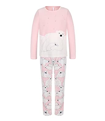 f6ce4256fe70 DOYOMODA Womens Sleepwear Polar Fleece Long Sleeve Lounge 3D Polar Bear  Pajamas Set (X-