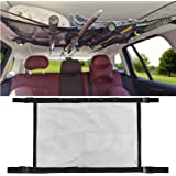 MDSTOP SUV Ceiling Storage Net with Fishing Rod Holder, Interior Car Roof Rack Mesh Storage Rack Polyester Mesh Sundries…