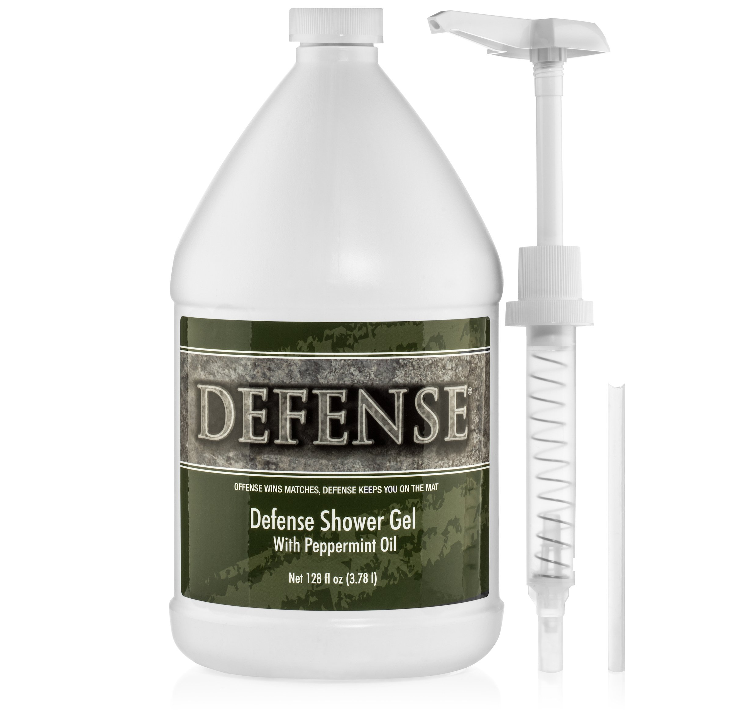 Defense Soap Peppermint Body Wash Shower Gel 1 Gallon (128 Fl Oz) by Defense Soap