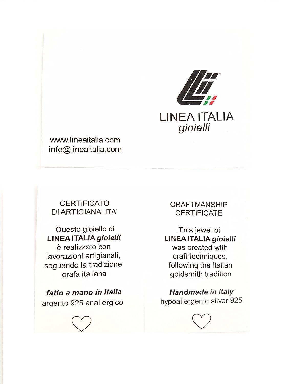 Linea Italia gioielli Made in Italy Collana rosario girocollo in Argento 925 Croce e Medaglietta Madonna
