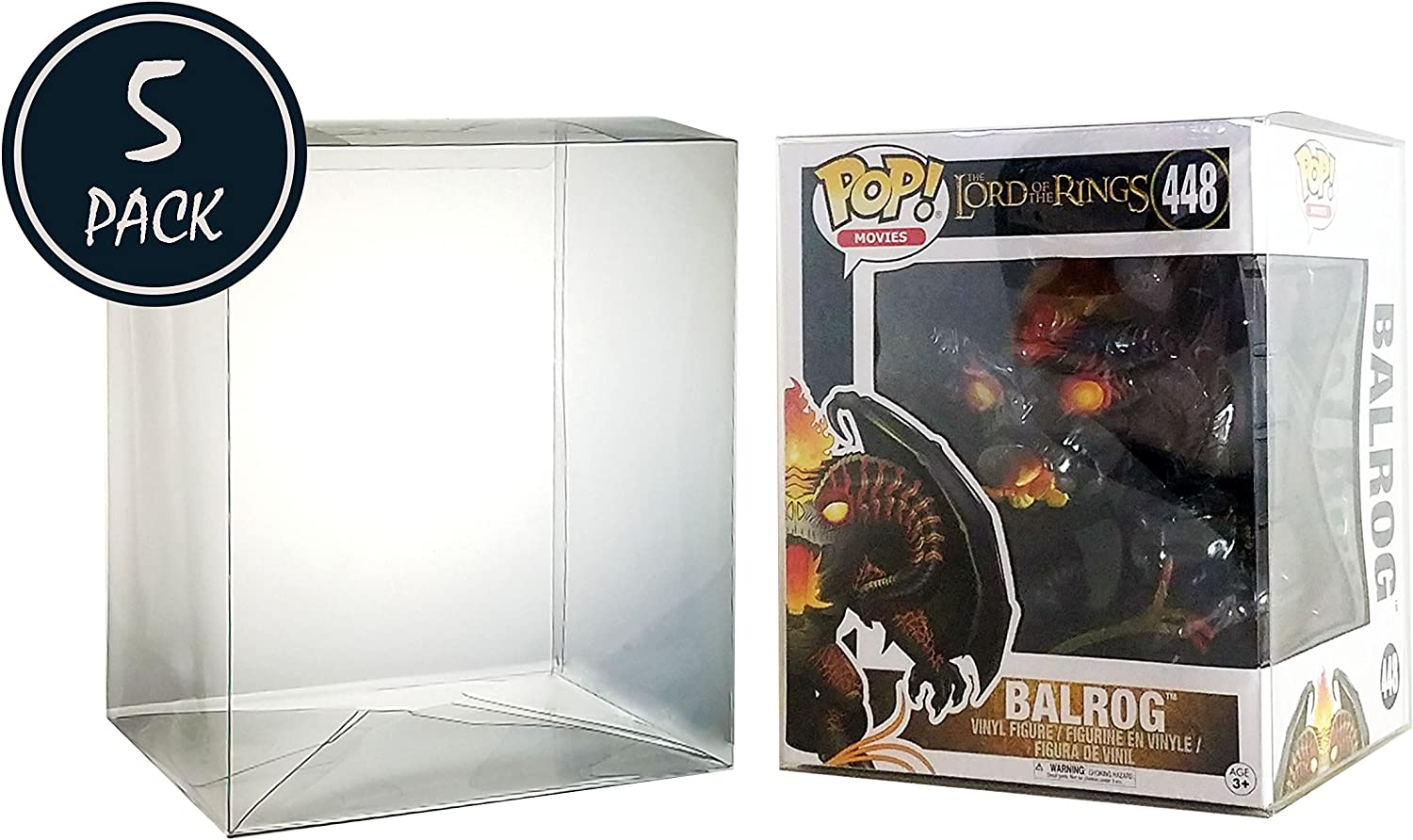 """pack of 10 x  crystal clear Vinyl Display Box Cases 4/""""Protectors for dorbz Pop."""