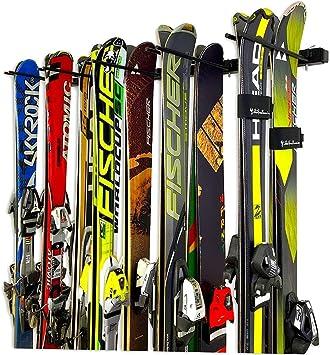 Storeyourboard Support De Rangement Mural Pour Skis Et Snowboard Peut Contenir 10 Paires De Supports Muraux Pour Ski Maison Et Garage Amazon Ca Outils Et Bricolage