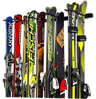 StoreYourBoard Omni Ski And Snowboard Wall Storage Rack | Holds 10 Pairs Of  Skis | Ski