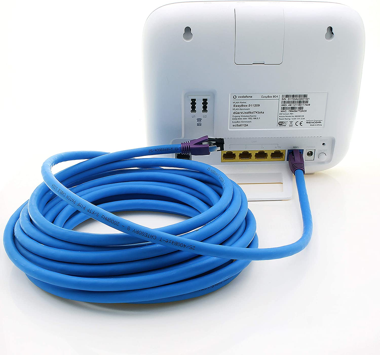 5 pi/èces 1m C/âble Ethernet AWG24 cuivre LSZH Bleu 1aTTack.de 1m C/âble r/éseau Cat.8 C/âble CAT8 Cat 8 2000 MHz 40 Gbit s 40GBase-T C/âble Patch Haut de Gamme Poe