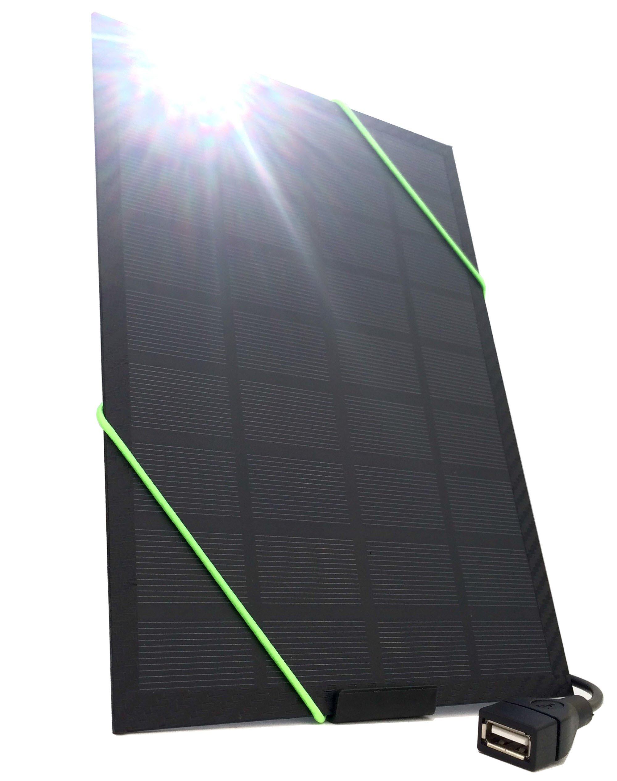 Cargador Solar Portatil de 5 Watts de Salida NEFF SOLAR Negr