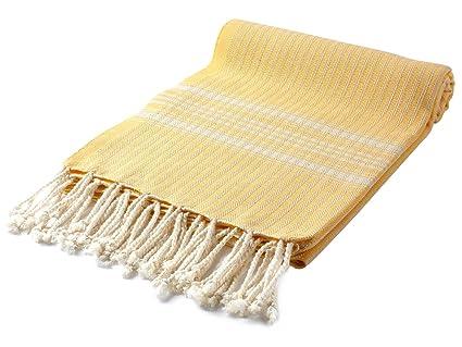 """CACALA envoltura de toalla de baño turco Pestemal 37 x 70 """"100% algodón"""
