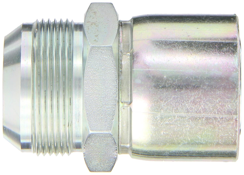 EATON Weatherhead Coll-O-Crimp 06920E-520 Male Rigid Fitting 1-1//8 Hose ID AISI//SAE 12L14 Carbon Steel 1-1//4 Tube Size 1-1//8 Hose ID 1-1//4 Tube Size SAE 37 Degree