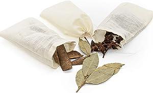 AUEAR, 12 PCS Reusable Drawstring Cotton Soup Bags 4