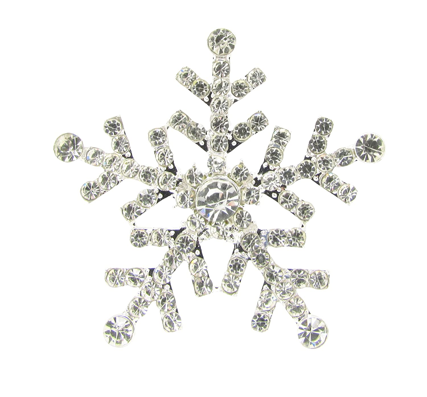 5pcs 33mm Diamante Snowflake Stick On Wedding Invitation Christmas Craft