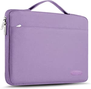 "Hseok Laptop Sleeve 13-13.5 Inch Case Briefcase, Compatible All Model of 13.3 Inch MacBook Air/Pro, XPS 13, Surface Book 13.5"" Spill-Resistant Handbag for Most Popular 13""-13.5"" Notebooks, Purple"