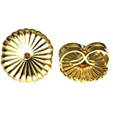 14K Gold Ear Locking Earring Backs - 2 Parts
