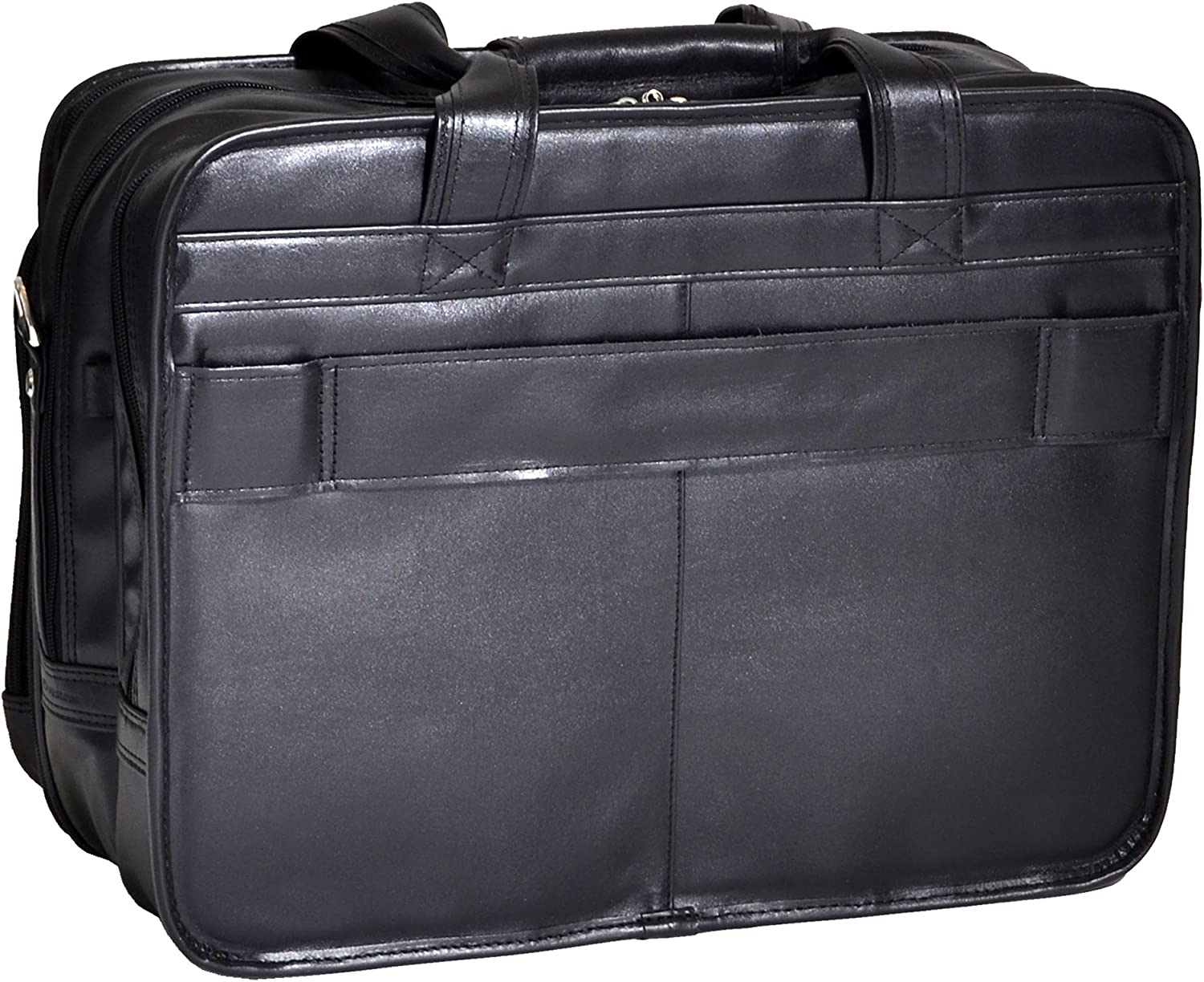 McKlein USA Roosevelt Leather Detachable Wheeled 17 Inch Laptop Case