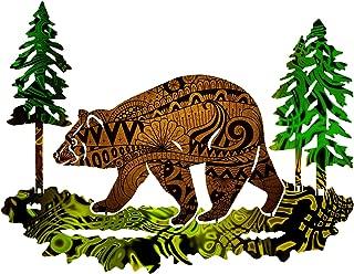 product image for Next Innovations 101410028-CHESTNUT Medium Bear Metal Wall Art, Chestnut