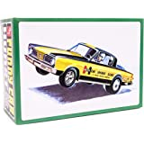 AMT 1966 Plymouth Barracuda Hemi Under Glass - 1/25 Scale Model Car Kit - Buildable Vintage Cars for Kids and Adults