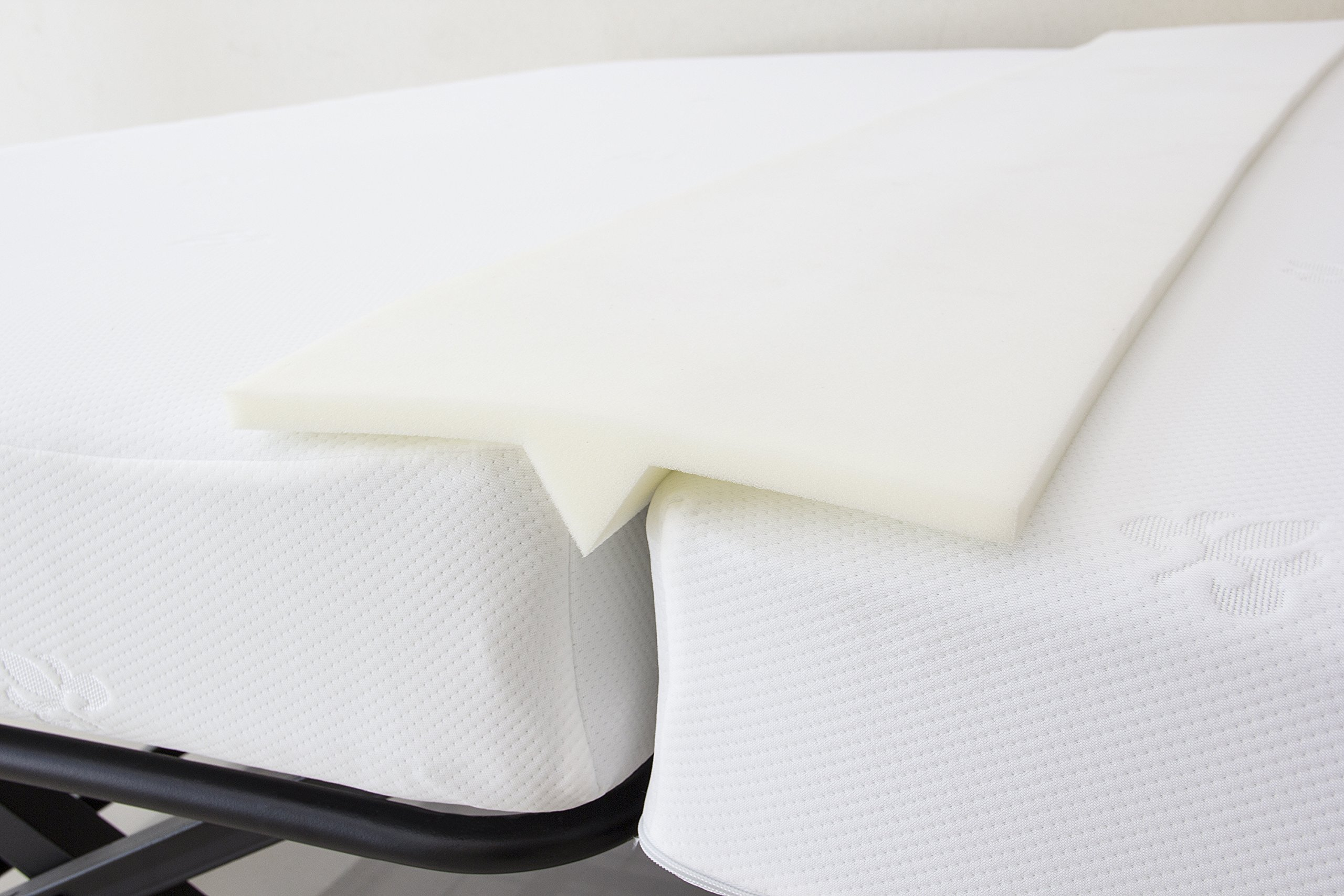 Kings Brand Furniture Foam Bed Bridge Pad Mattress Connector - Transform Two Twin XL Mattress Beds into King Size Bed