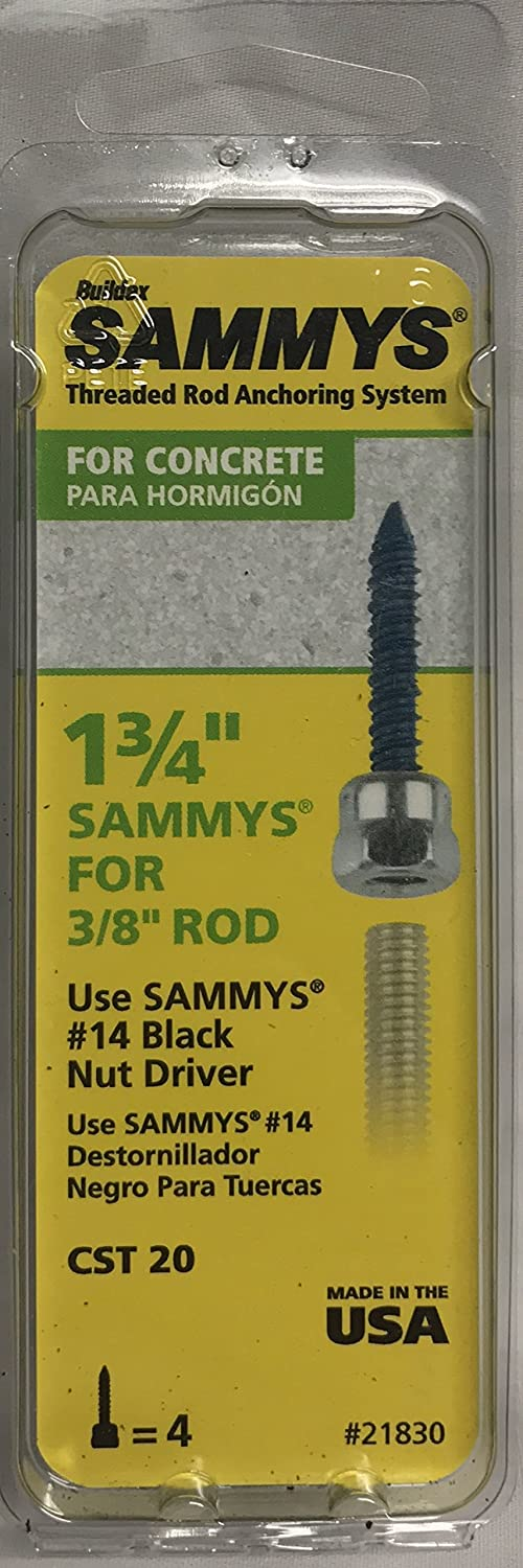 1-3/4 in. Sammys Concrete Screw for 3/8 in. Rod (4-Pack): Amazon.com ...
