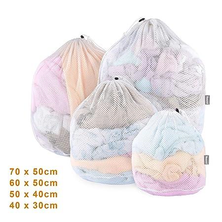 Yoassi - Bolsas de lavandería de 4 tamaños con cordón para ...