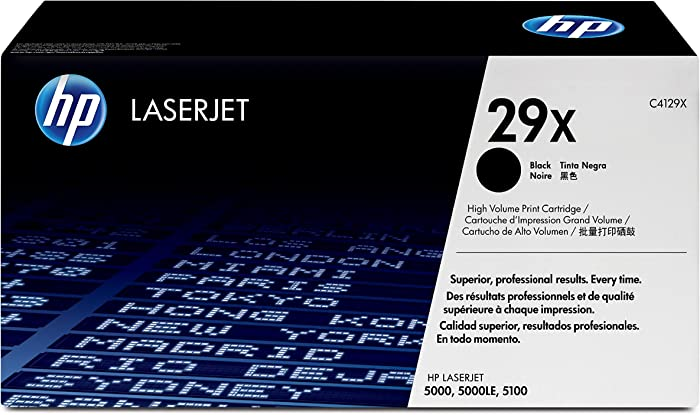 HP 29X | C4129X | Toner Cartridge | Black | High Yield | DISCONTINUED BY MANUFACTURER