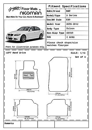 Weather Car Mats >> Nicoman Euro Lhd Premium All Weather Car Mats Easy Clean Dirt