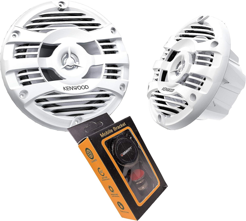 """Kenwood KFC-1653MRW White 300 Watts 6-1//2/"""" 2-Way Marine Boat Audio Speakers 6.5/"""""""