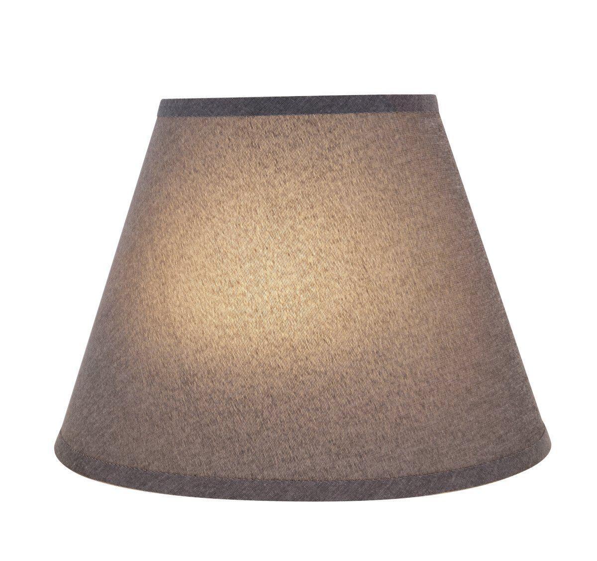 Aspen Creative 32181 Transitional Hardback Empire Shape Spider Construction Lamp Shade in Grey, 13'' wide (7'' x 13'' x 9 1/2'') by Aspen Creative (Image #3)