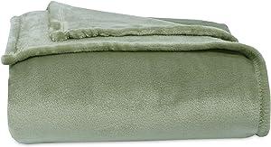 Berkshire Blanket Velvety Plush Bed Blanket, King, Sage