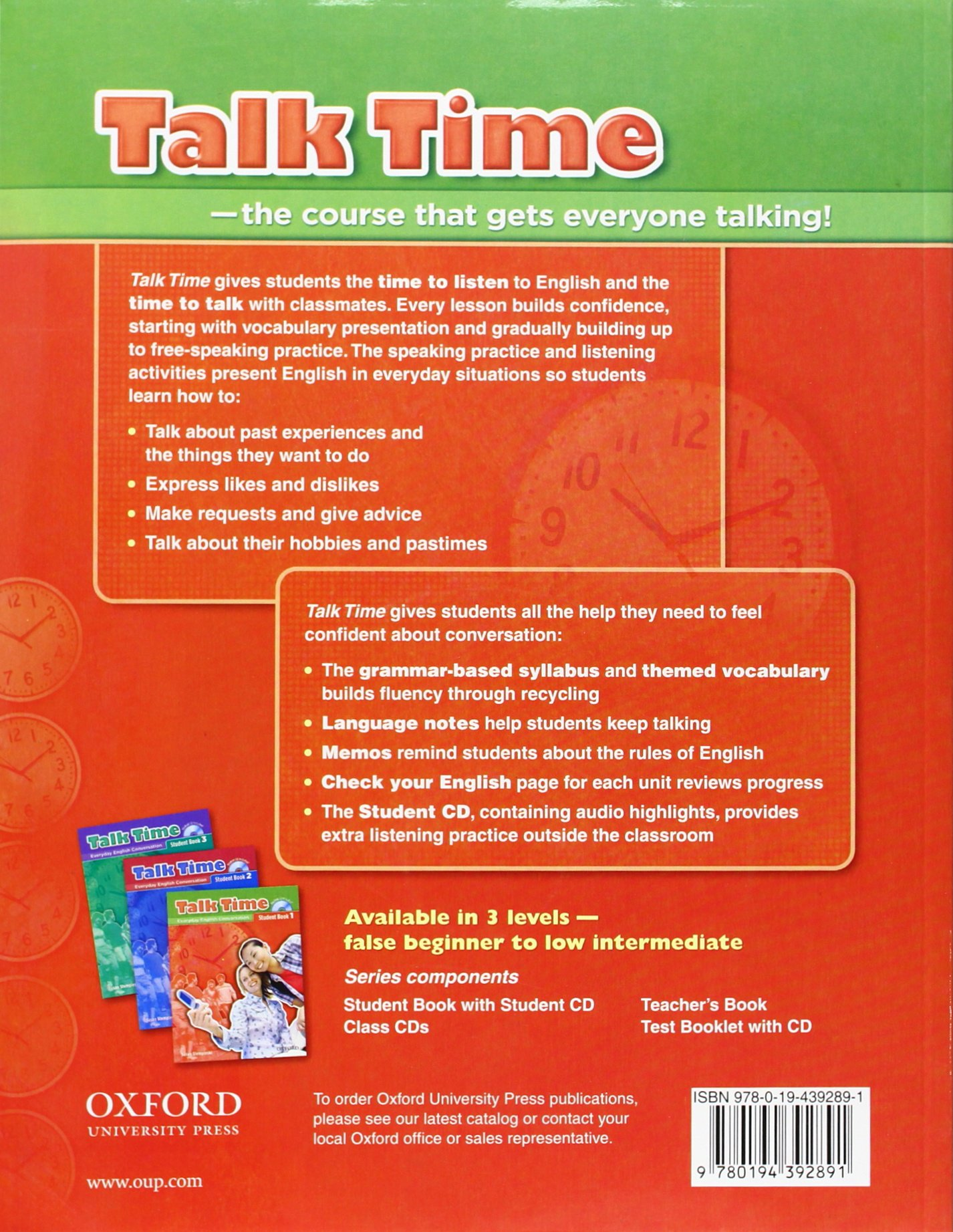 Talk Time 1 Student Book With Audio Cd