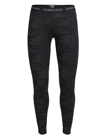 bfcd95a23de5c Icebreaker Women's Vertex Flurry Bodyfit Leggings - Black/Jet Heather/Black,  Small