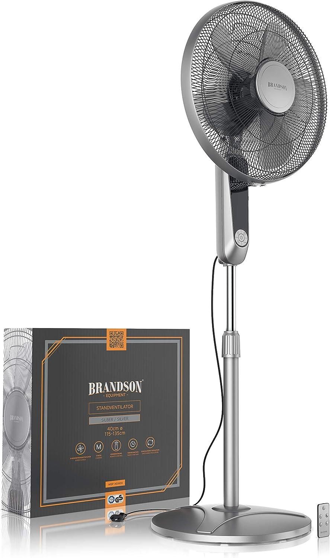 Brandson – Ventilador de pie con mando a distancia y pantalla – 45 ...