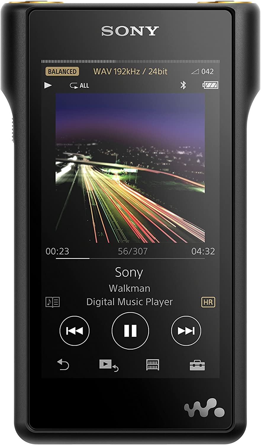 Sony NW-WM1A 128GB Premium Walkman - Digital Music Player with Hi-Res Audio, Black
