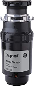 General Electric GFC520N Continuous Feed Disposall, Large capacity, 1/2 horsepower, Black