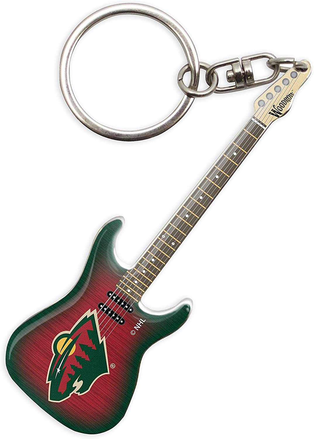 Woodrow Guitar by The Sports Vault NHL Unisex Woodrow Mini Guitar by The Sports Vault NHL Mini Guitar Keychain