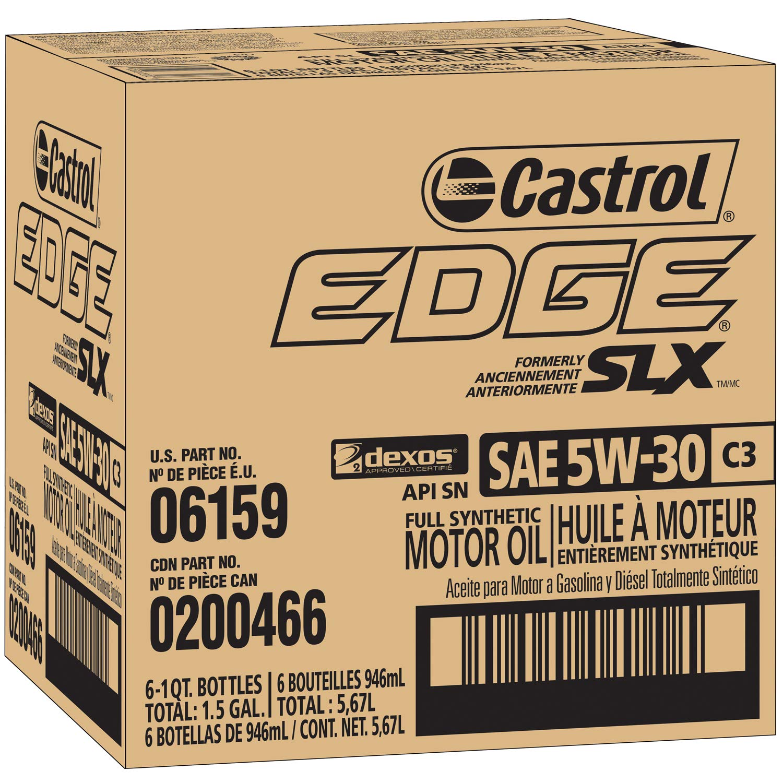Amazon.com: Castrol 6159 EDGE 5W-30 C3 Advanced Full Synthetic Motor Oil, 1 Quart, 6 pack: Automotive
