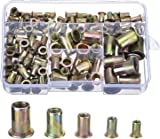 Zinc Plated Carbon Steel Rivet Nut Insert Nutsert M4 M5 M6 M8 M10, 120 Pieces