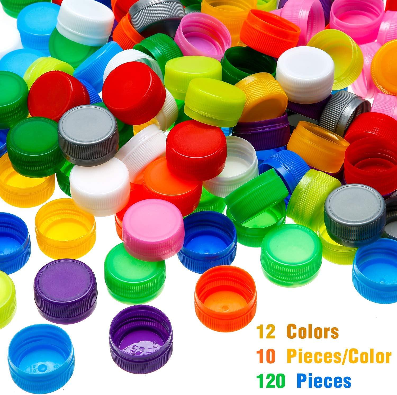 120 tapas de plástico para botella de protección, botella para ...