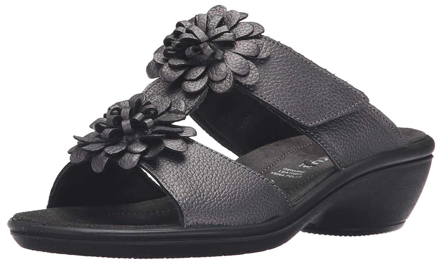 Flexus Womens B019HYCV42 Sp3 Loredana Slide Sandal B019HYCV42 Womens 9.5-10 B(M) US|Pewter 746ac6