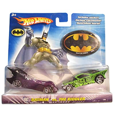 Hot Wheels DC Comics Batman vs The Riddler 1:64 Scale Die Cast Car 2 Pack Mattel: Toys & Games