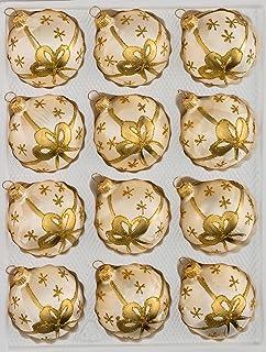 Christbaumkugeln Polen.Direkt Aus Polen Matte Weiß Und Goldene Weihnachtskugeln Mit Golden