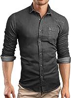 Grin&Bear custom Denim fitted Shirt Mens shirt Jeans, SH591