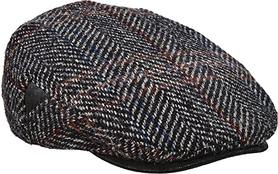 Amazon.com  Stetson Men s Italian Fabric With Leather Trim Ivy Cap ... 92f4086a844