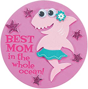 Mother's Day Shark Foam Magnet Craft Kit -12 - Crafts for Kids and Fun Home Activities